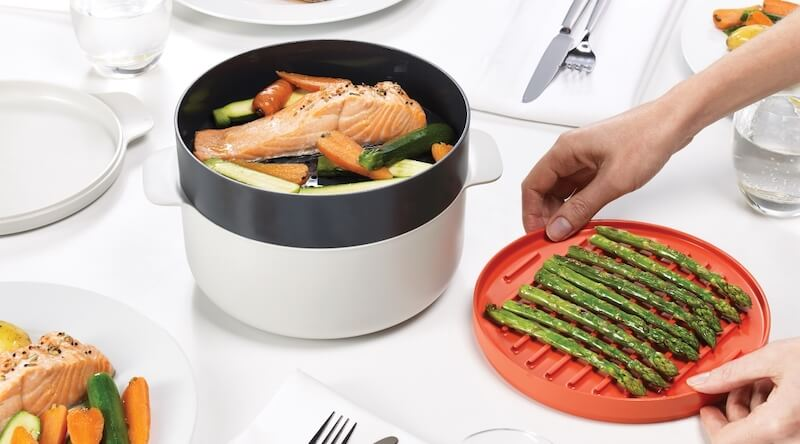 Stackable Microwave Cooking Set