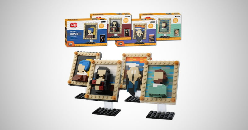 Four World Famous Painting Blocks