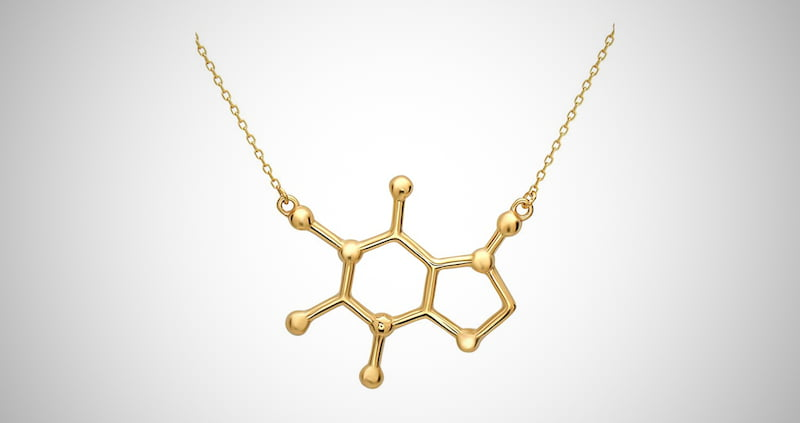 Molecule Necklace Sterling Silver Jewelry