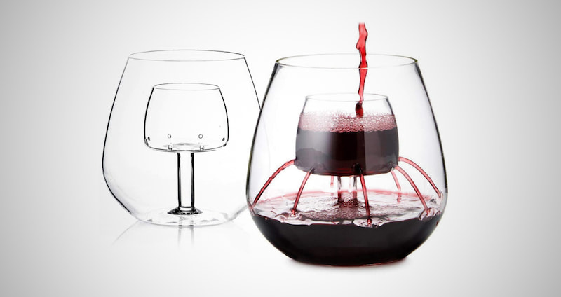 Stemless Aerating Wine Glasses
