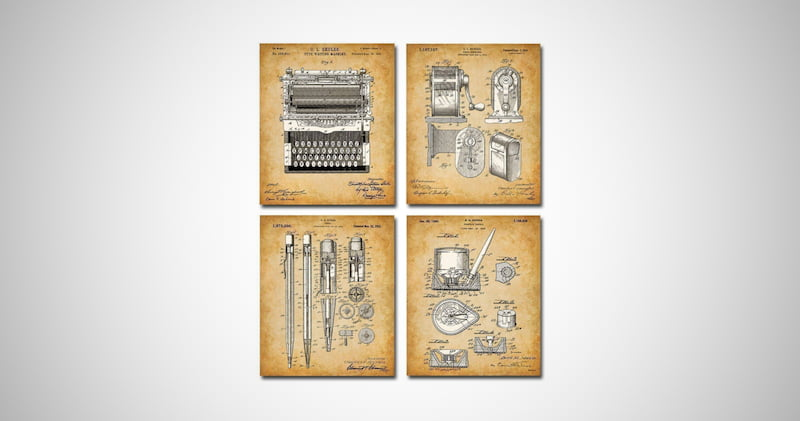 Original Writer Patent Prints