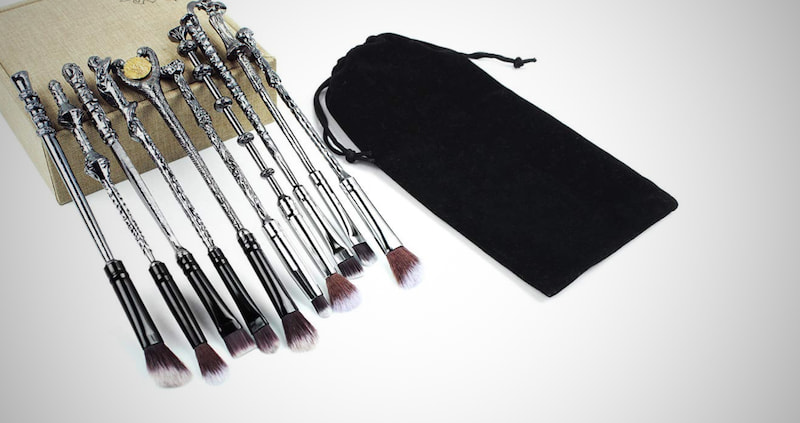 Magical Themed Wizard Wand Makeup Brushes