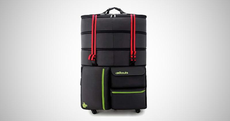 Ailouis Expandable Rolling Duffel Bag