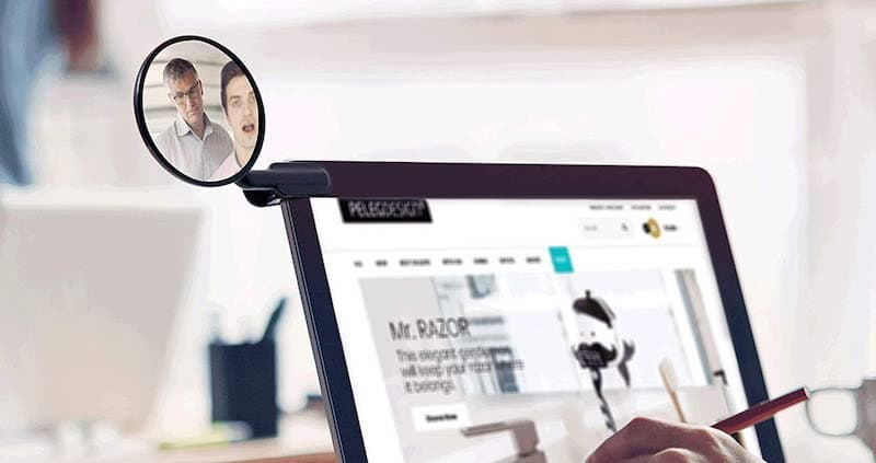 Office Clip On Security Mirror