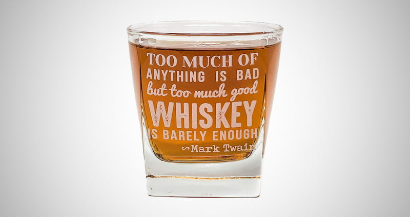Mark Twain Quote Whiskey Cocktail Glass