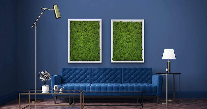 Bright Green Moss Wall Art