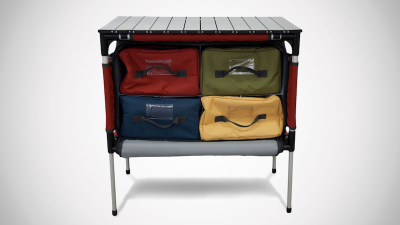 Versatile Aluminum Roll-top Table