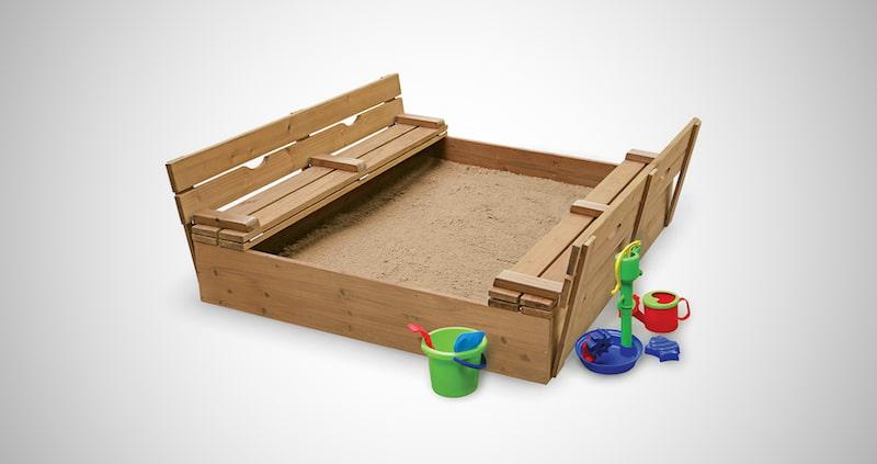 Convertible Cedar Sandbox