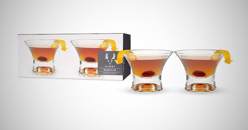 Viski Crystal Manhattan Cocktail Glasses