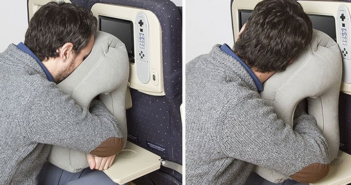 Inflatable Travel Napping Pillow
