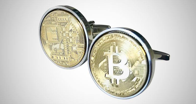 Gold Bitcoin Cufflinks