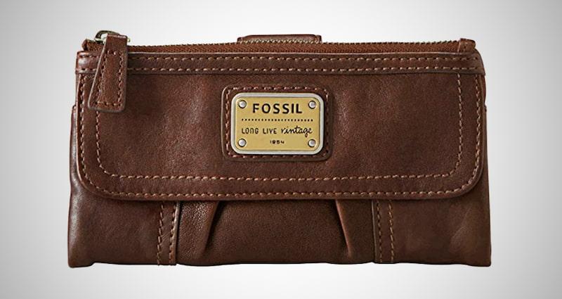Fossil Women's Leather Clutch Wallet