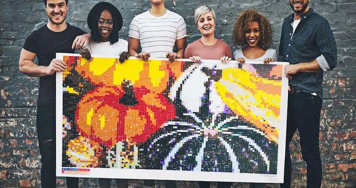 Huge Mosaic Puzzle Poster Kits