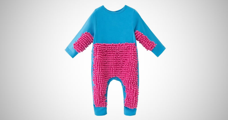 Baby Cleaning Mop Romper