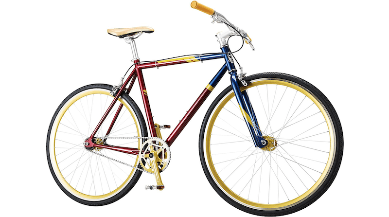 Captain Marvel Single-Speed Fixie Style Bike