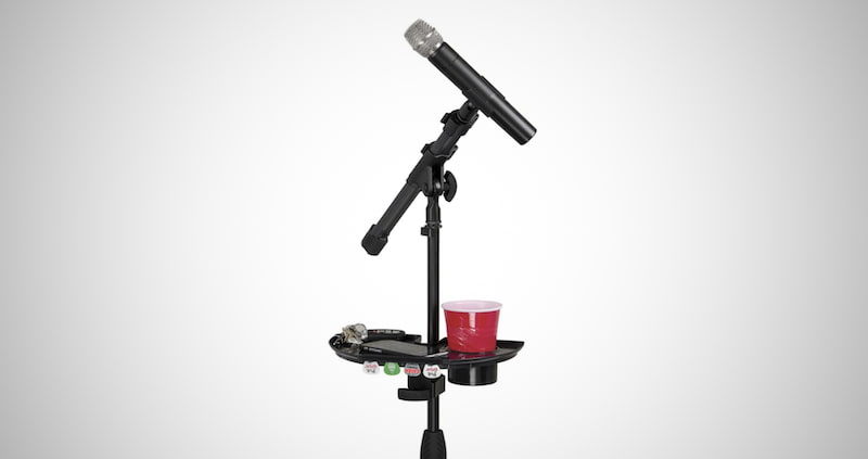 Microphone Stand Accessory Tray