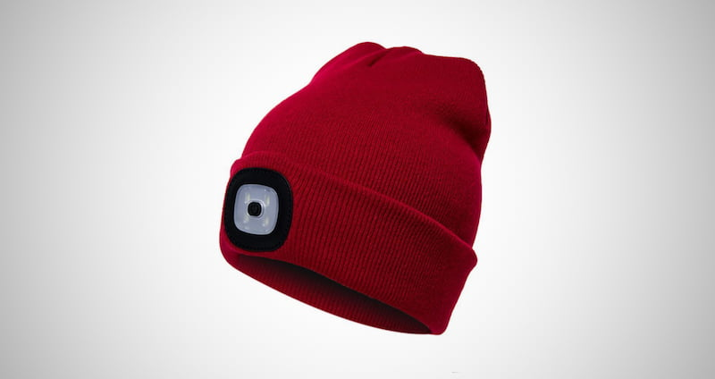 Women's Rechargeable LED Beanie Hat