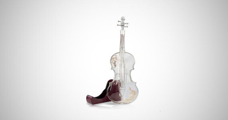 Glass Violin Decanter