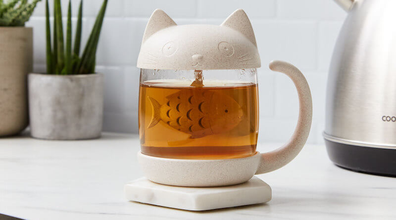 Cute Cat Tea Mug