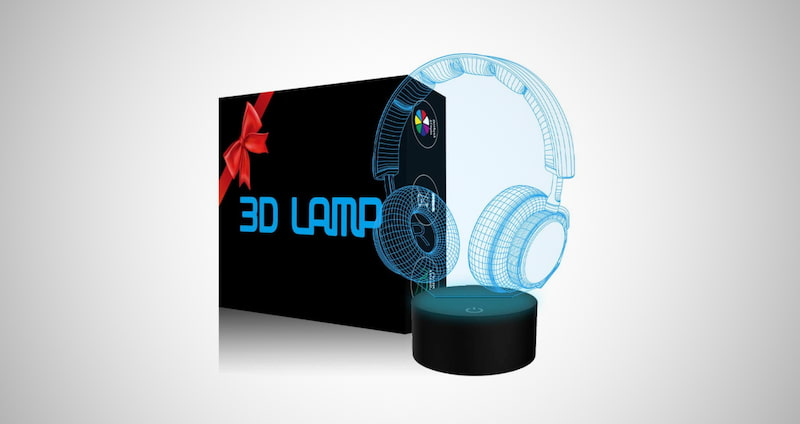 3D Earphone Night Light