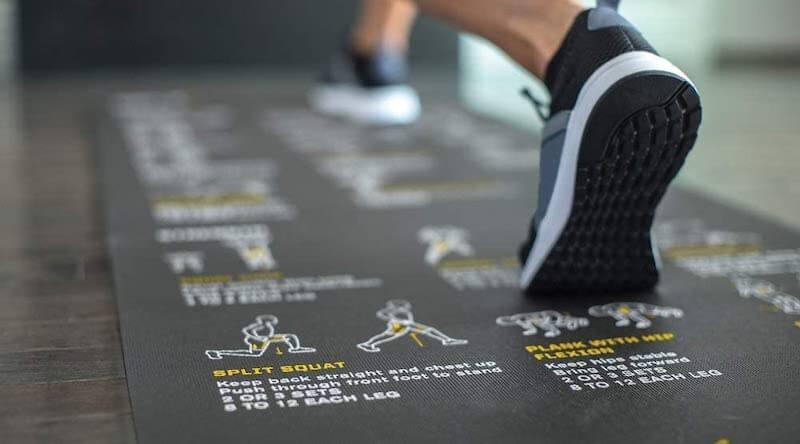 Instructional and Educational Yoga Mat