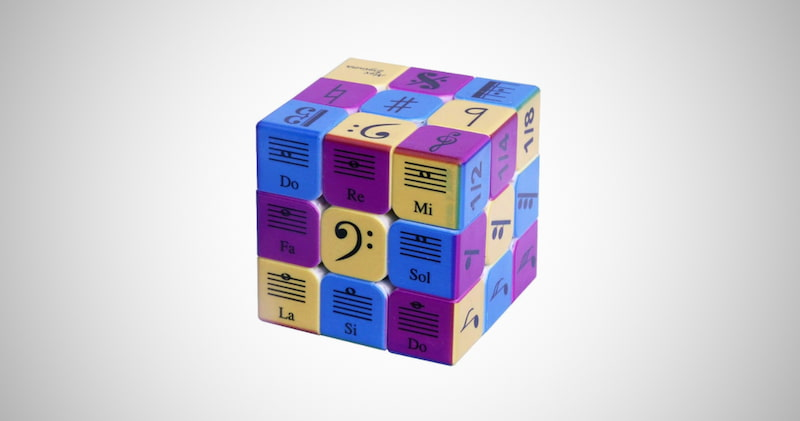 Music Notes Speed Cube