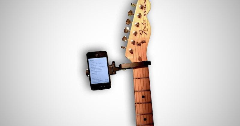 Guitar Sidekick Smartphone Holder