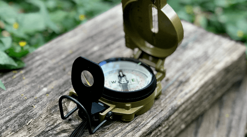 Official US Military Tritium Lensatic Compass