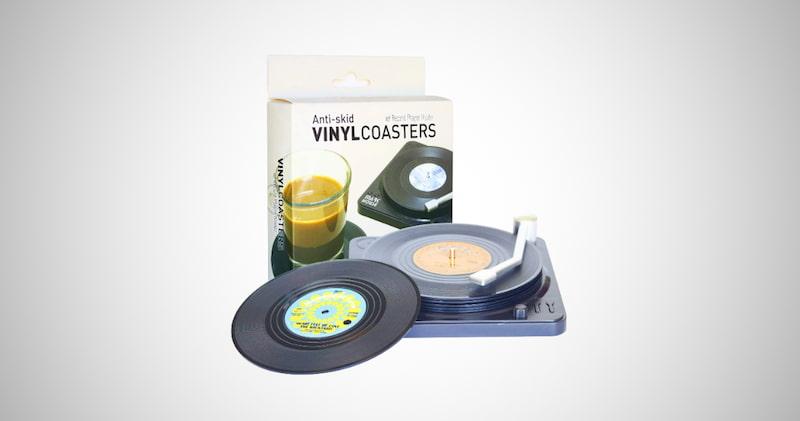 Retro Vinyl Record Coasters