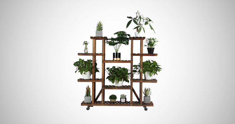 Wood Plant Pots Shelves