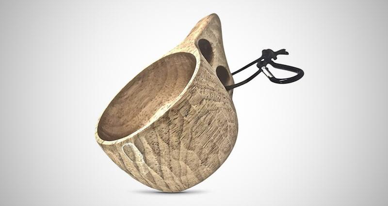 Handcrafted Wood Camp Mug