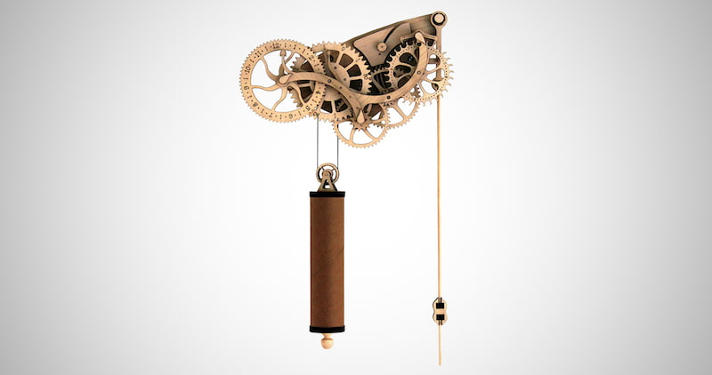 Laser-Cut Wooden Pendulum Clock