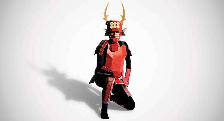 Cardboard Samurai Costume