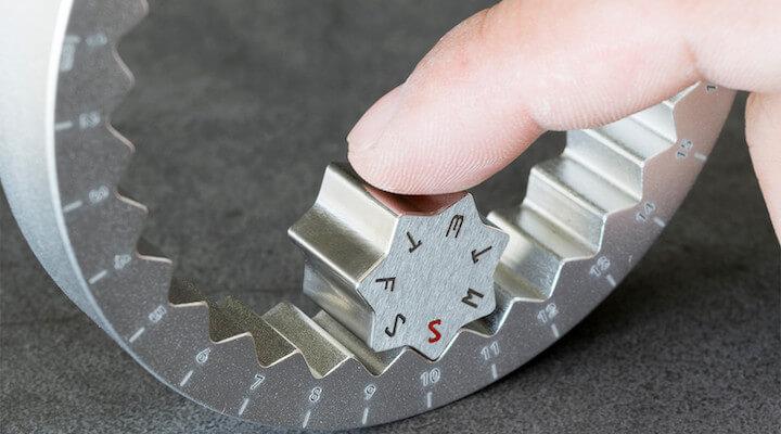 Aluminum Perpetual Ring Calendar