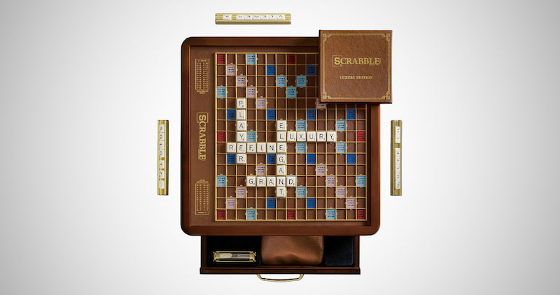 Scrabble Deluxe Edition Game Board