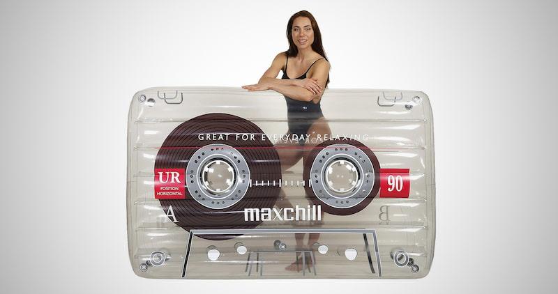LÔTELI Classic Cassette Tape Pool Float