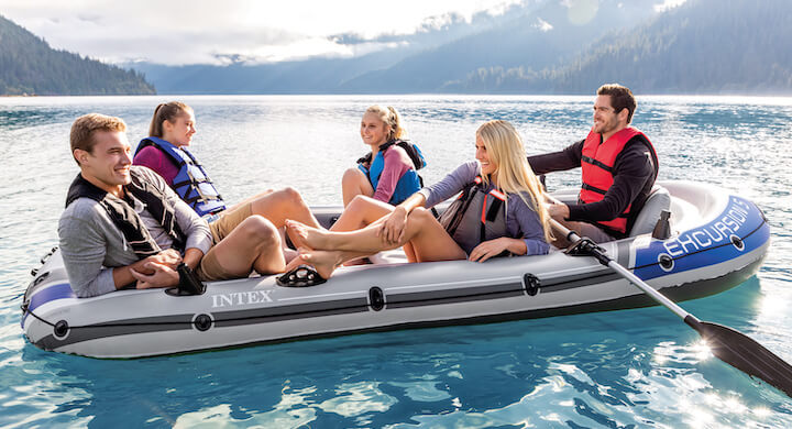 5-Person Inflatable Boat Set