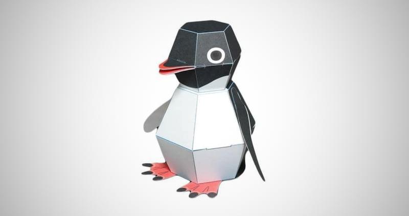 Penguin POP Action Paper Craft kit