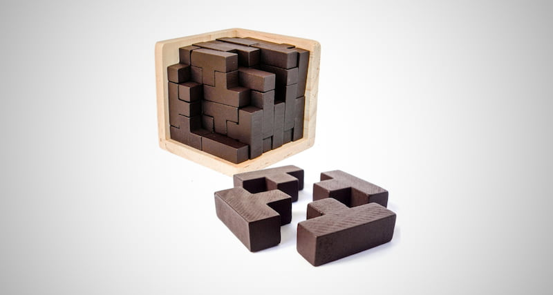 3D Wooden Brain Teaser Puzzle