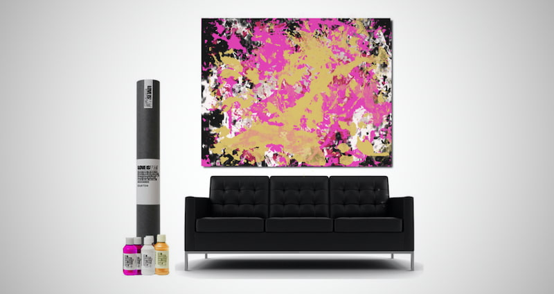 Love Is Art Canvas and Paint Kit