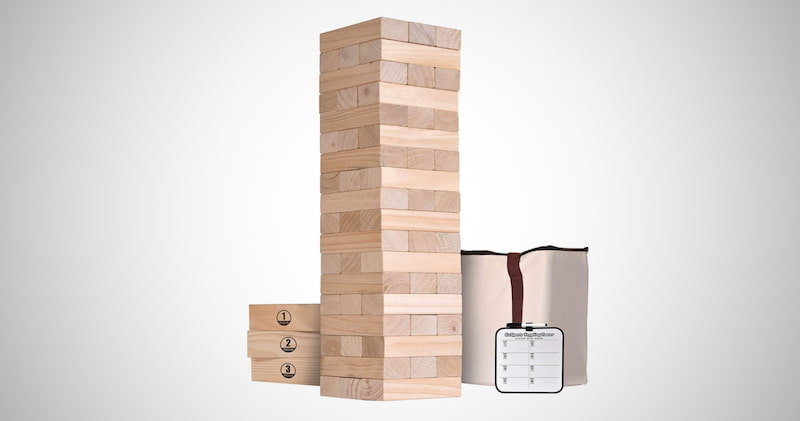 Giant Wooden Toppling Tower