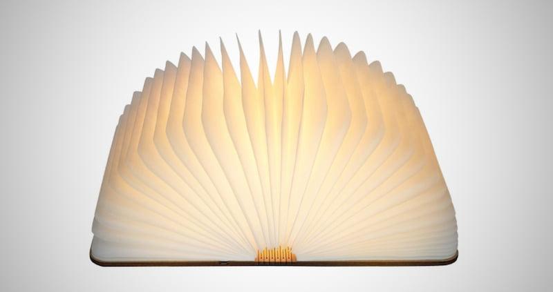 LED Real Wood Book Lamp