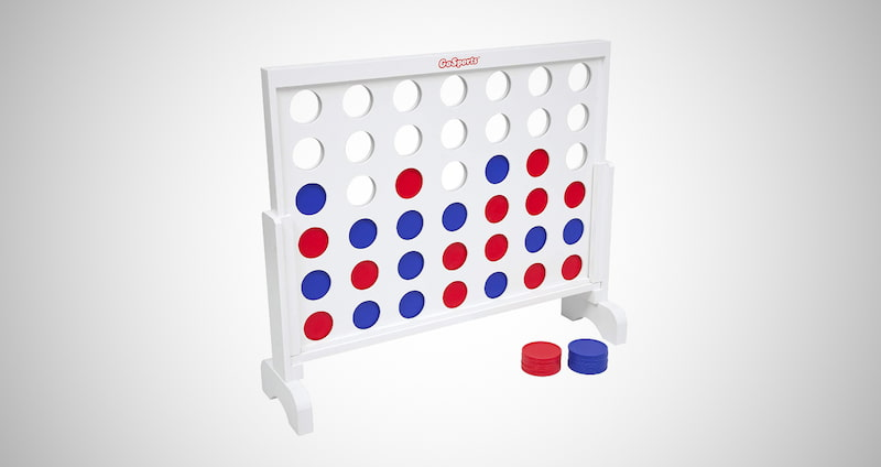 GoSports Wooden 4 in a Row Game