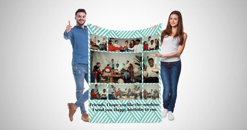 Custom Couple's Photo Blanket