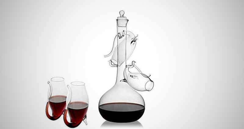 Porto Decanter Set Port Sippers