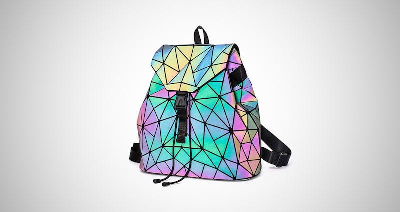 Holographic Reflective Luminous Backpack