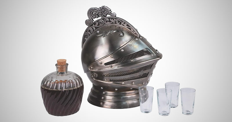 Windlass Knight's Helmet Decanter