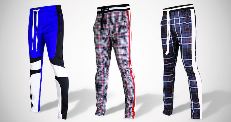 Mens Hip Hop Slim Track Pants