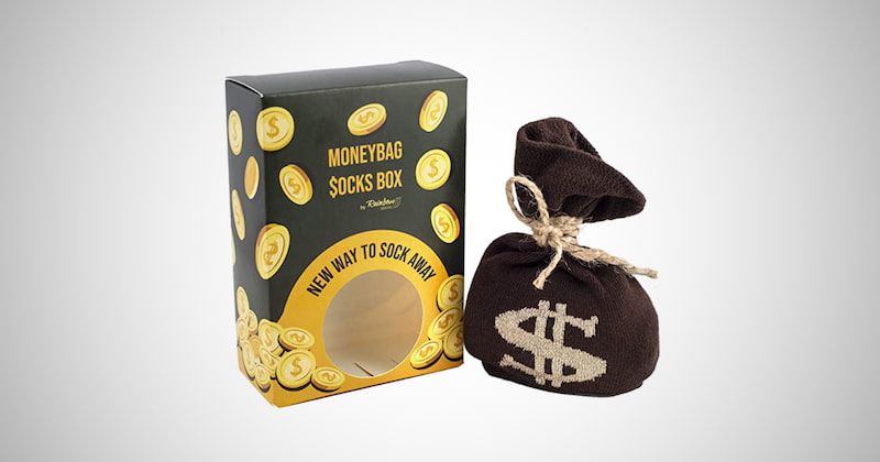 Moneybag Socks in a Box