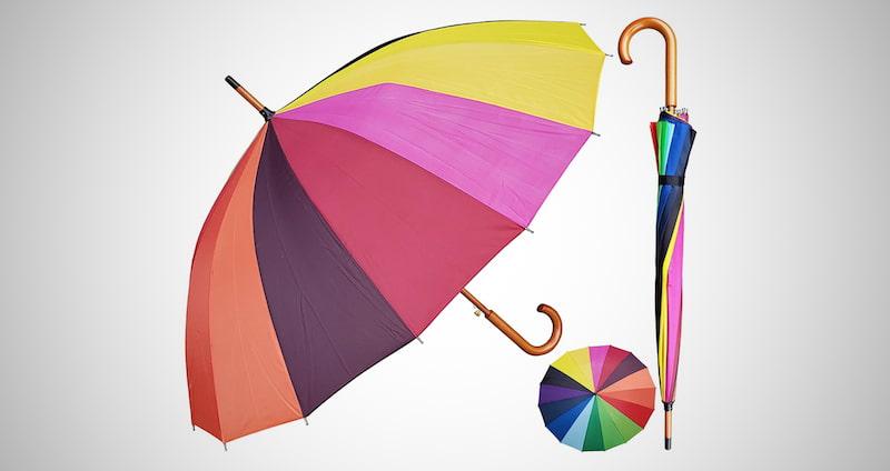 """RainStoppers 48"""" Multi-Color Umbrella"""